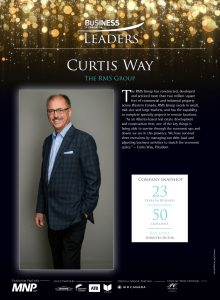2019 Business Leader Plaque awarded to Curtis Way, President of RMS Group.